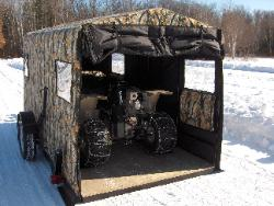 Even your larger ATV's fit perfectly inside the trailer, keeps it protected, easy to load and unload and easy to transport.