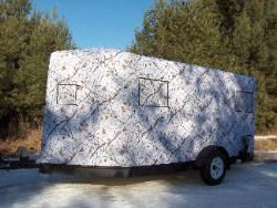 Snow Fall Camo Trailer.